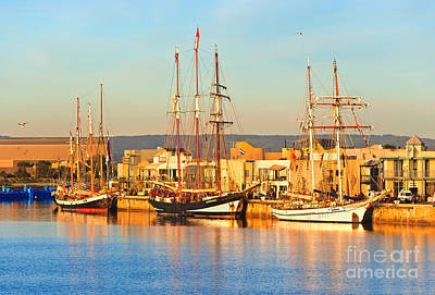 Tall Ships Photograph - Dutch Tall Ships Docked by Bill  Robinson