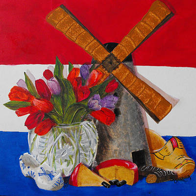 Wooden Shoes Painting - Dutch Treat by Susan Bruner