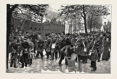 Dutch Troops Embarking At Rotterdam For Sumatra Print by English School