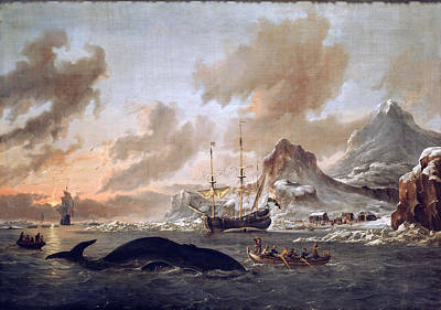 Dutch Whalers Art Print