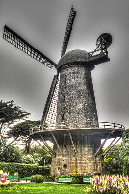 Photograph - Dutch Windmill And Tulip Garden by SC Heffner