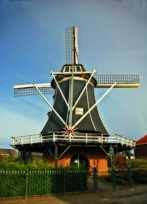 Photograph - Dutch Windmill by Ginger Wakem