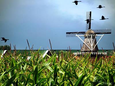 Dutch Windmill In Summer Art Print by Yvon van der Wijk
