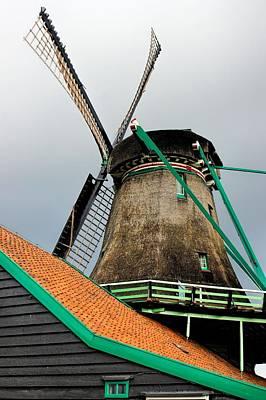 Dutch Windmill Art Print by Jenny Hudson
