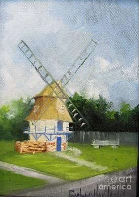 Dutch Windmill Nederland Texas Original by Barbara Haviland