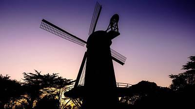 Dutch Windmills  Golden Gate Park  San Francisco  California Art Print by Ron Williams