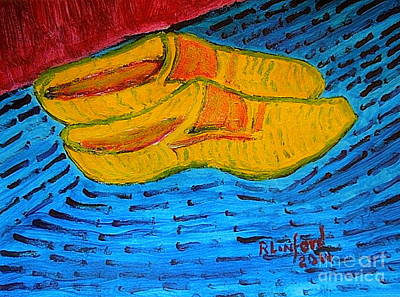 Wooden Shoes Painting - Dutch Wooden Shoes 1 by Richard W Linford