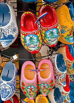 Dutch Wooden Shoes Art Print by Dennis Cox WorldViews
