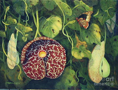 Sandra Williams Painting - Dutchmans Pipe by Sandra Williams