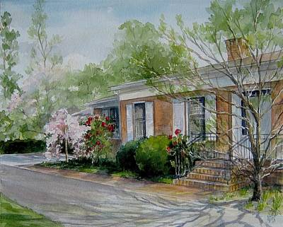 Duvall Home Portrait Art Print by Gloria Turner