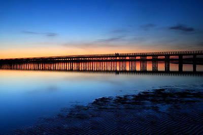 Duxbury Beach Powder Point Bridge Twilight Art Print