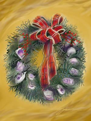 Duxbury Oyster Wreath Art Print by Jean Pacheco Ravinski