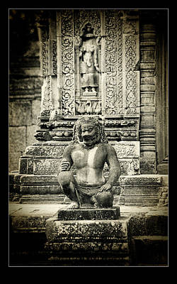 Photograph - Dvarapala At Banteay Srey by Weston Westmoreland