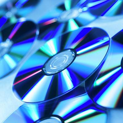 Compact Disc Photograph - Dvds by Science Photo Library
