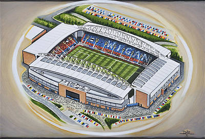 Rugby Painting - Dw Stadium - Wigan Athletic by D J Rogers