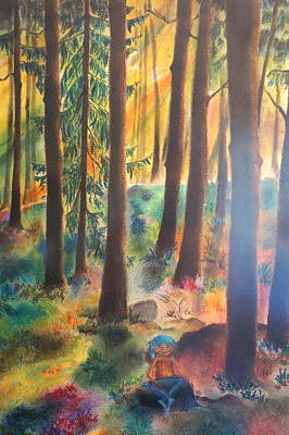 Dwarf In Wermlands Forest Art Print by Rosa Garcia Sanchez