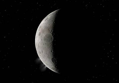 Celestial Body Photograph - Dwarf Planet Ceres Crescent by Walter Myers