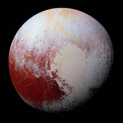 Terminator Photograph - Dwarf Planet Pluto by Nasa/jhuapl/swri