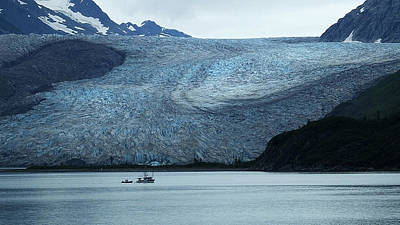 Photograph - Dwarfed By The Glacier by Judy Wanamaker