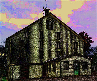 Photograph - Dwight D. Eisenhower Barn In Gettysburg In Draw Form by Amazing Photographs AKA Christian Wilson