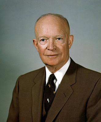 General Dwight D Eisenhower Digital Art - Dwight D. Eisenhower by Georgia Fowler