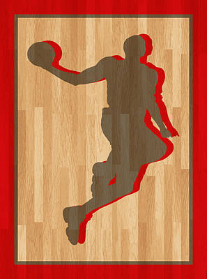 Dwight Howard Houston Rockets Print by Joe Hamilton