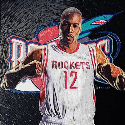 Dwight Howard Print by Taylan Apukovska
