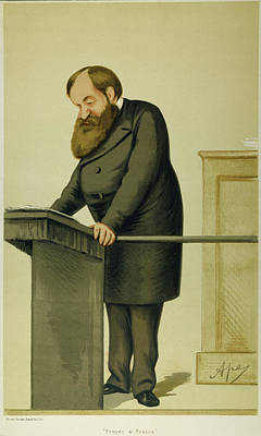 Evangelical Painting - Dwight Lyman Moody (1837-1899) by Granger