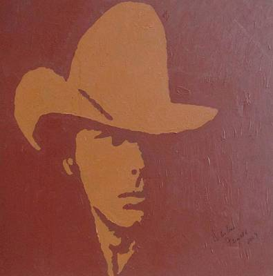 Dwight Yoakam Art Print by Darlene Fernald