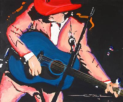 Dwight Yoakam Art Print by Eric Dee
