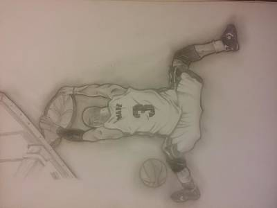 Lebron Drawing - Dwyane Wade  by Manny