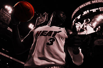 Dwyane Wade Ready To Go Art Print by Brian Reaves