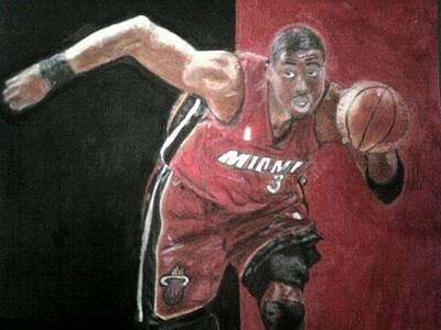 Miami Heat Drawing - Dwyane Wade by Steven Horner