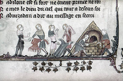 Furnace Painting - Dyers, 14th Century by Granger