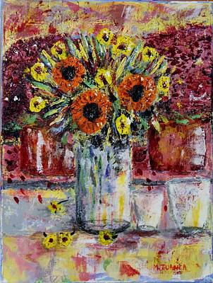 Art Print featuring the painting Dying Flowers by Melvin Turner