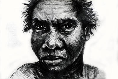 Portrait Drawing - Dyinurugang by Paul Sutcliffe
