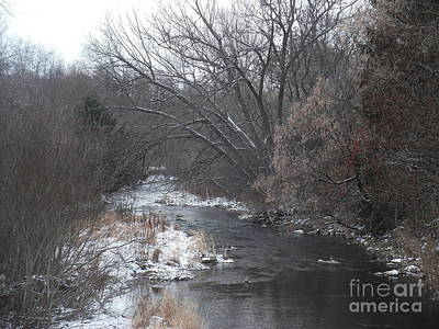 Photograph - Dyke Creek In Winter by Christian Mattison