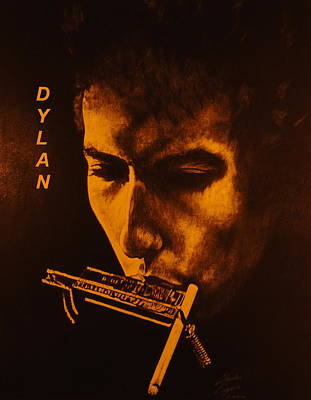 Bob Dylan Drawing - Dylan by Charles Rogers