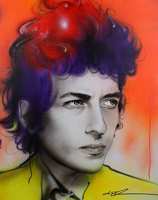 Sixties Painting - Bob Dylan - ' Dylan ' by Christian Chapman Art