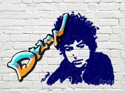 Digital Art - Dylan Graffiti by Laura Toth