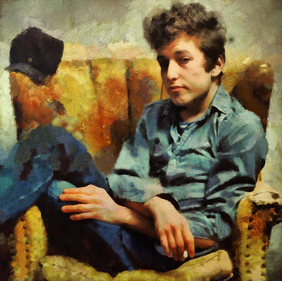 Bob Dylan Painting - Dylan  by Janice MacLellan
