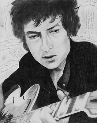 Bob Dylan Drawing - Dylan by Jennifer Urciuolo