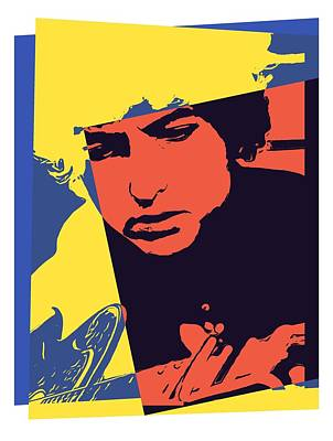 Bob Dylan Digital Art - Dylan Pop Art by Dan Sproul