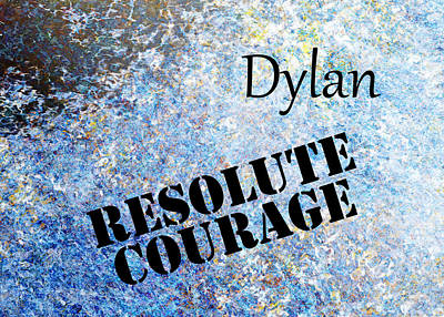 Kids Painting - Dylan - Resolute Courage by Christopher Gaston
