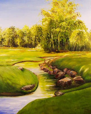 Painting - Dylan's Creek by Scott Hoke