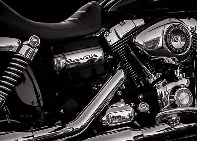 Dyna Super Glide Custom Art Print by Bob Orsillo