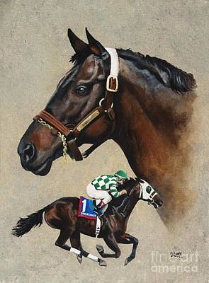 Horse Racing Painting - Dynaformer by Pat DeLong