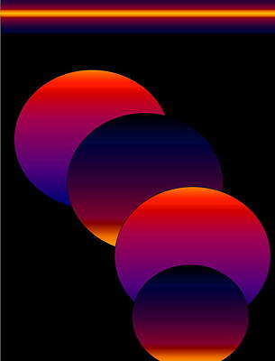 Art Print featuring the digital art Dynamic Circles by Gayle Price Thomas