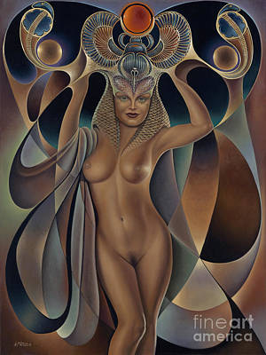 Nudes Paintings - Dynamic Queen 5 by Ricardo Chavez-Mendez