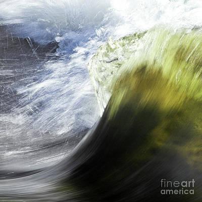 Dynamic River Wave Art Print by Heiko Koehrer-Wagner